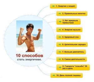 10 способов, чтобы стать энергичнее